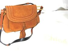 CHLOE Hudson  Caramel Suede Medium Satchel Handbag with tags