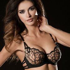 Sheer Mesh Lace Demi Cup Underwire Bra Caprice Natural Fashion Lingerie Spectra