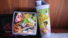 NEW Tupperware girls Tinkerbell mug & sandwich lunch set purple lavender