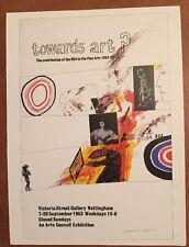 """David Hockney verso ART 1963 MINI POSTER POP ART autorizzato repro. 14"""" x 10"""" 1"""