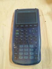 Texas Instruments Ti-83 Plus Graphing Calculator Translucent Clear Blue Nice