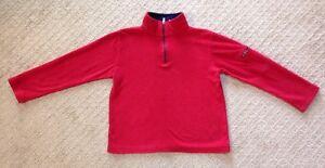 Kids L.L. Bean Fleece Red Mock Zip Pullover-Size 6X/7