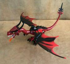Lego Dragon fantasy era dark red head from 7093 Castle fire breathing figure