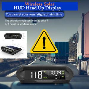 Wireless Solar Car HUD Head Up Display Digital GPS Speedometer Universal Kit