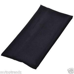 Extra Wide BLACK Stretchy Fabric Headband Head wrap Kylie Band Hairband 11cm