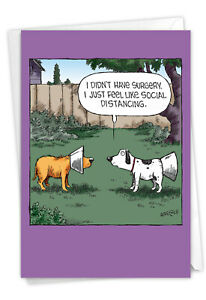 1 Funny Get Well Card with Envelope - No Surgery C9293GWG
