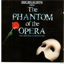 The Phantom Of The Opera-1987 Highlights-London Cast  ORIGINAL UK ISSUE CD