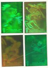 1994 Fleer Amazing Spider-man Hologram 4 card set 2 are blue/green Tint