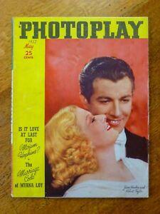 Photoplay magazine May 1937 - Jean Harlow & Robert Taylor cover