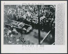 """1964 John F. Kennedy Assassination, """"Moments Before the Fatal Bullet"""" Photo"""