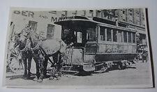 USA682 - NEW YORK RAILWAYS - HORSE DRAWN TROLLEY CAR Photo