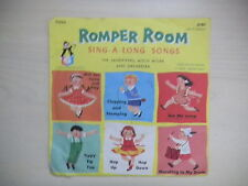 "Golden Record ROMPER ROOM Sing-A-Long Songs Little Yellow 6"" 78rpm 50s"