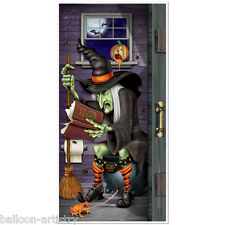 5ft Haunted Halloween Wicked Witch Toilet Door Poster Cover Decoration