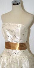 NWT JESSICA McCLINTOCK $130 Gold Cocktail Dress 7