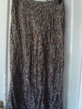 BROWN AND PINK TROUSERS, SIZE 14