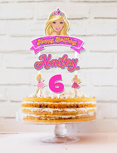 BARBIE CAKE TOPPER PERSONALISED LOLLY LOOT BAG TOPPER PARTY SUPPLIES CUSTOM