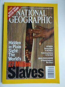 National Geographic September 2003 - 27 Million Slaves - Very Clean Condition.