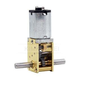 12V DC Micro N20 Dual Shaft Worm Gear Motor Gearbox Large Torque Motor DIY Robot