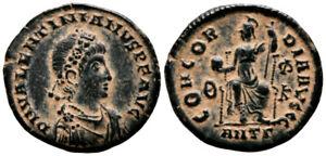 VALENTINIAN II (378-383 AD) Ae3 Follis. Antioch #VR 8245