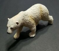 "SAFARI LTD ANIMAL FIGURE POLAR BEAR 5"" LONG WHITE WILDLIFE TOY 2008"