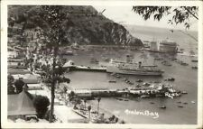 Catalina Island Avalon Bay CA Real Photo Postcard