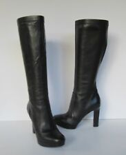 VIA SPIGA  Womens Lovely Genuine Black Leather Knee High Boots  5.5 M