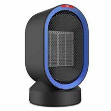 Mini Space Heater Small Personal Ceramic Heater Oscillating Fan Home Office Desk