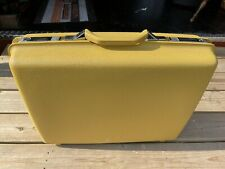 Vintage Royal Traveller Yellow Hard Shell Suitcase Large EXCEL condition w/Key