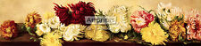 Chrysanthemums - Yard Long - by M. Stone  (Art Print of Vintage Art)