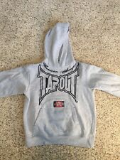 TAPOUT ADULT MENS HOODIE HOODED SWEATSHIRT PULLOVER GRAY LOGO SIZE MEDIUM Kd7