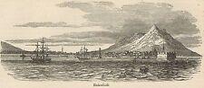 C8560 Japan - Hakodate, Hokkaido - View - Stampa antica - 1892 Engraving