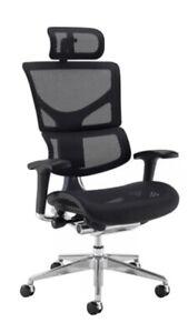 New Dynamo High Back Mesh Ergonomic Chair Head Rest Lumbar Support