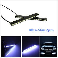2xUltra-Slim LED Fog Signal Light Daytime Car Running Lamp Strip DRL Waterproof