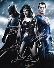 BATMAN VS SUPERMAN REPRINT 8X10 AUTOGRAPHED SIGNED PHOTO CAVILL GADOT AFFLECK RP
