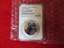 2015 Niue 1 Oz .999 Silver THOR Marvel's Avengers Age of Ultron NGC Graded PF69!