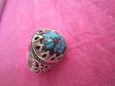 Antike Islamische Perser Silber-Ring-türkis Stein