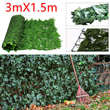 Artificial Ivy Leaf Hedge Screening Privacy Screen Garden Fence Panels 1.5m x 3m