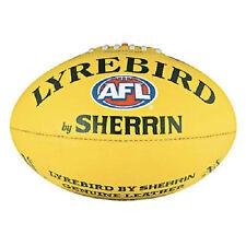 SHERRIN AFL Lyrebird Leather Yellow Football  (size 5) AFL Ball