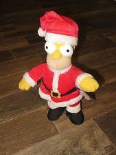 "Universal Studios Parks Homer Simpson Christmas Santa Holiday Plush 16"" Medium"