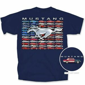 Mustang Flag T-Shirt * Classics / Fox / Late * Patriotic * Ships FREE To The USA