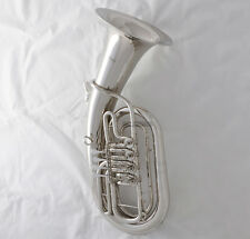 Professional 4 Rotary Piston Euphonium Silver Nickel Plated Bb Horn With Case