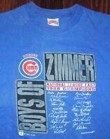 T Shirt Vintage 80s Chicago Cubs MLB Baseball Single Stitch Wrigley Faded XL