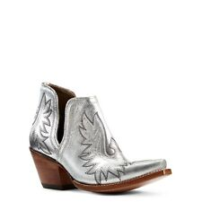 Ariat® Ladies Dixon Silver Metallic Western Ankle Boots 10029652