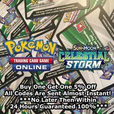 50x Sun And Moon Celestial Storm Pokemon TCGO PTCGO TCG Online Codes Sent Fast!!