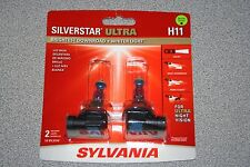 Sylvania Silverstar ULTRA  H11 Pair Set High Performance Headlight 2 Bulbs NEW
