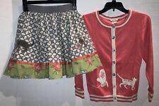 MATILDA JANE girls Pretty Kitty circle skirt cardigan sweater sz 12 14