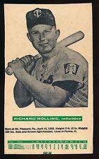1962 Cloverleaf Dairy Milk Cartons -RICHARD ROLLINS (Minnesota Twins) *RARE*