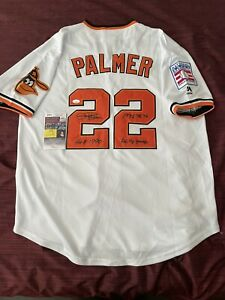 Jim Palmer Baltimore Orioles Multi-Inscription HOF Signed Autographed Jersey JSA
