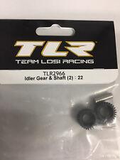 TEAM LOSI RACING -  kit Pignons intermediaires (Idler Gear & Shaft) TLR2966 1/10