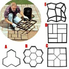 Garden Plastic Path Maker Pavement Model Concrete Stepping Stone Cement Mould